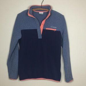 COLUMBIA Snap PullOver Lightweight Fleece Top S